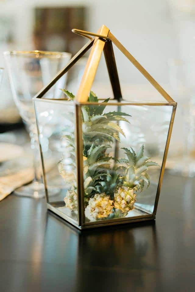 Glass Gold Latern