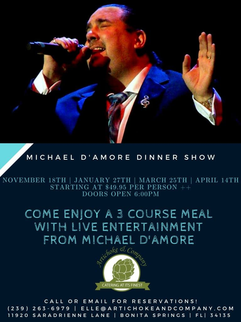 michael d'amore dinner show with all season dates