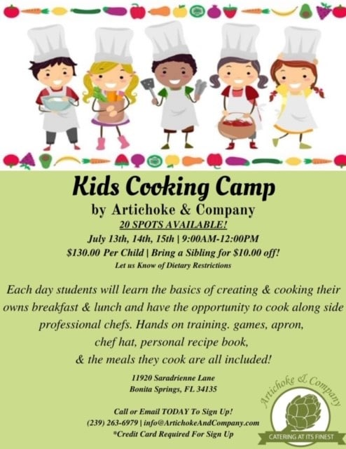 Kids Cooking Camp July 2020