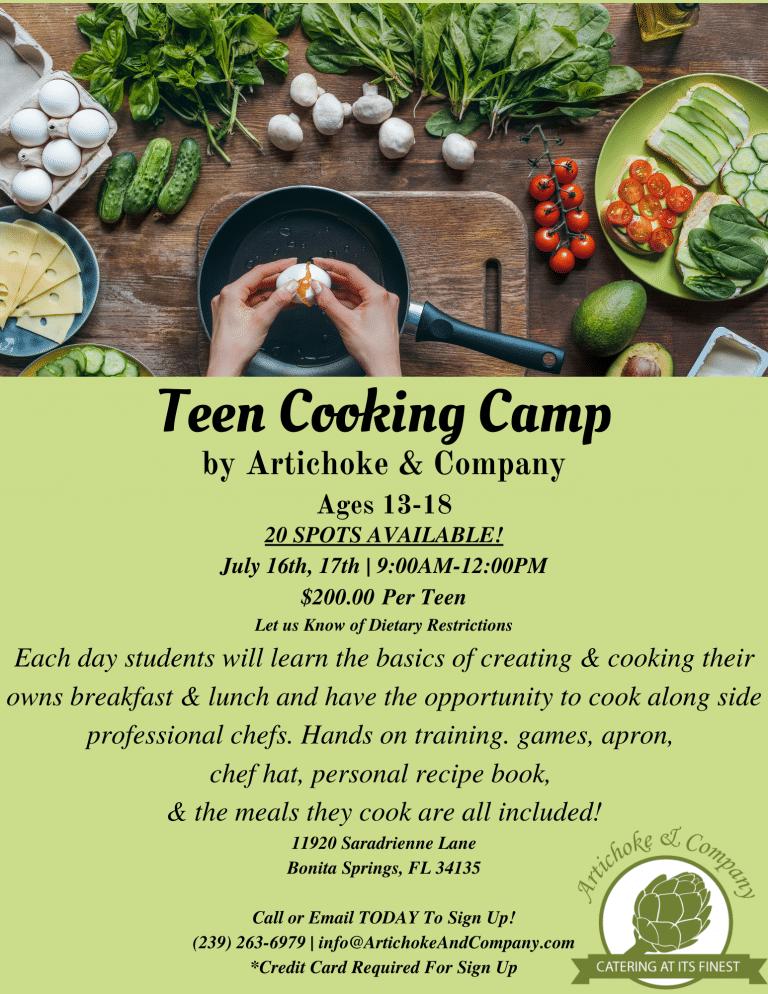 Teen Cooking Camp