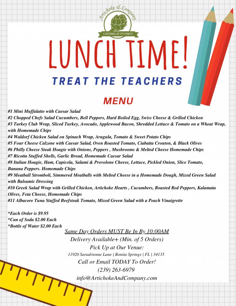 Teachers Lunch Flyer