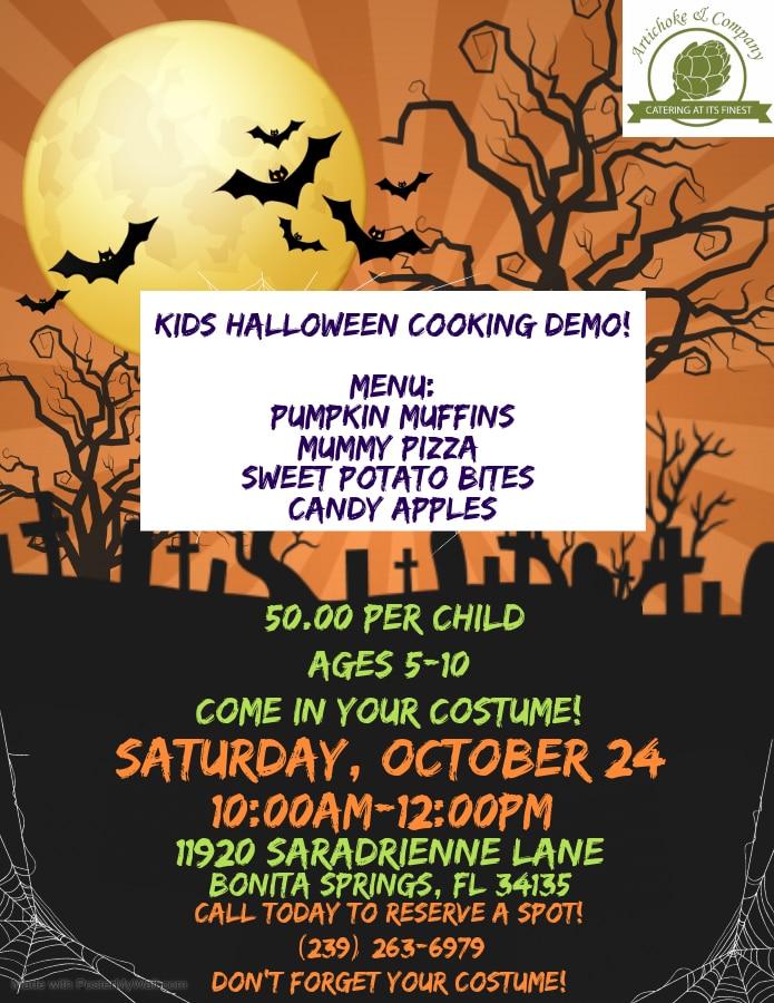 Kids Halloween Cooking Demo